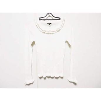 【中古】 トゥービーシック 長袖セーター サイズ2 M レディース 美品 白 ベージュ フリル/ラメ
