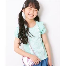 レース使いTシャツ(女の子 子供服) Tシャツ・カットソー