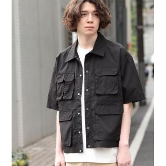 ジュンレッド/【ビッグシルエット】ダブルフラップポケットシャツ/ブラック/L
