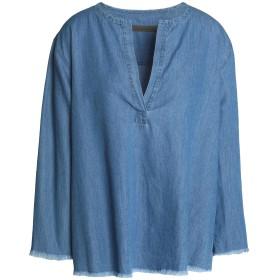 《期間限定セール開催中!》ENZA COSTA レディース デニムシャツ ブルー 2 コットン 100%