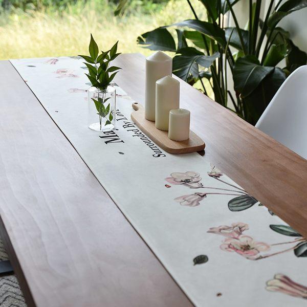 時尚可愛空間餐桌布 茶几布 隔熱墊 鍋墊 杯墊 餐桌巾桌旗683 (32*180cm)
