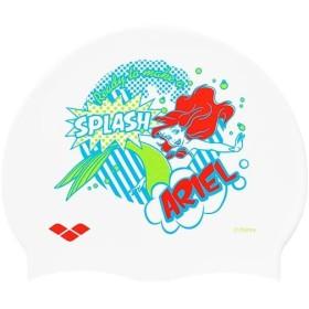 アリーナ(arena) メンズ レディース シリコンキャップ ホワイト フリーサイズ DIS-9312 WHT スイムキャップ 水泳帽 ディズニー