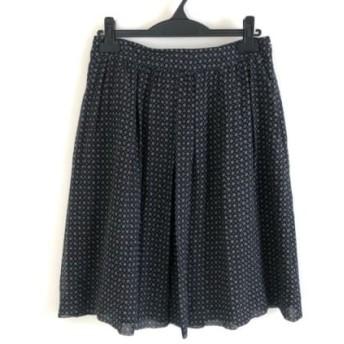 【中古】 バーバリーロンドン スカート サイズ40 L レディース 美品 黒 ダークグレー ブルー