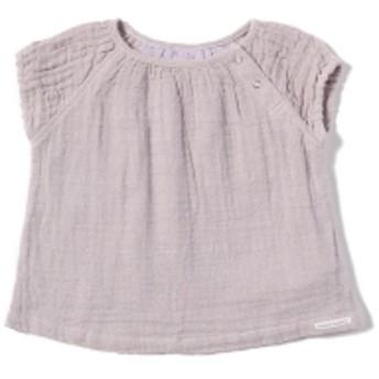 こども ビームス / ベビー ラグランスリーブ Wガーゼ チュニック (70~80cm) キッズ カジュアルシャツ lilac 70