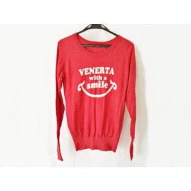 【中古】 ヴェネルタ venerta 長袖セーター サイズ1 S レディース レッド アイボリー