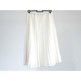 【中古】 ホコモモラ JOCOMOMOLA ロングスカート サイズ40 XL レディース アイボリー プリーツ