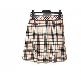 【中古】 バーバリーブルーレーベル Burberry Blue Label スカート サイズ38 M レディース 黒 レッド