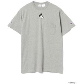 UNISEX>Champion / ミッキーマウス スペシャル Tシャツ Disney(ディズニー) メンズ Tシャツ GREY M