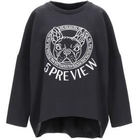 《期間限定セール開催中!》5PREVIEW レディース スウェットシャツ ブラック XS コットン 80% / ポリエステル 20%