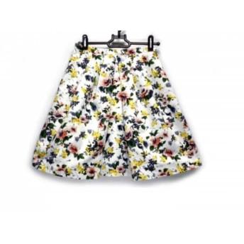 【中古】 アプワイザーリッシェ Apuweiser-riche スカート サイズO レディース 白 グリーン マルチ 花柄