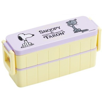 ピーナッツ 弁当箱 2段 / 超 スリム タイト 2段 ランチボックス 箸付き 630ml SNOOPY&ファーロン スヌーピー