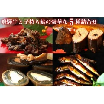 飛騨牛と子持あゆの豪華な甘露煮5種詰め合わせ[B0205]