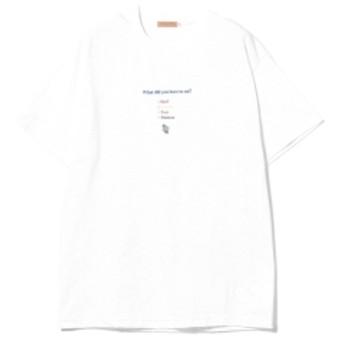 LES CINQ LETTRES. / PUKE Tee メンズ Tシャツ WHITE XL