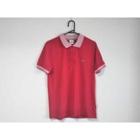 【中古】 ラコステ Lacoste 半袖ポロシャツ サイズL メンズ レッド 白