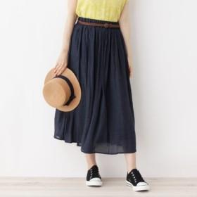 [マルイ]【セール】ベルト付きギャザースカート/キューティーブロンド(Cutie Blonde)