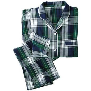 40%OFF【レディース】 洗い替えの1枚に!柄が可愛いパジャマ(綿100%) - セシール ■カラー:グリーン系 ■サイズ:M,5L,S,L,LL,3L
