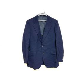 【中古】 バーバリーズ Burberry's ジャケット レディース ダークネイビー 肩パッド/ネーム刺繍