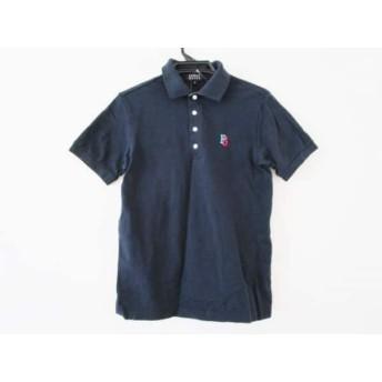 【中古】 パーリーゲイツ 半袖ポロシャツ サイズ4 XL メンズ ネイビー ピンク ライトグリーン