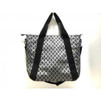 【中古】 パトリックコックス PATRICK COX ハンドバッグ シルバー 黒 PVC(塩化ビニール)