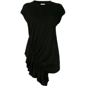 Current/Elliott ギャザー Tシャツドレス - ブラック