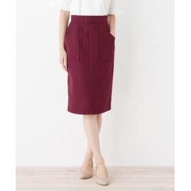 OPAQUE.CLIP(オペークドットクリップ) 【洗える】Wポケットタイトスカート