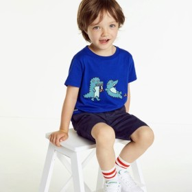 ワニイラストプリントボーイズTシャツ