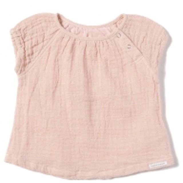 こども ビームス / ベビー ラグランスリーブ Wガーゼ チュニック (70~80cm) キッズ カジュアルシャツ L.pink 70