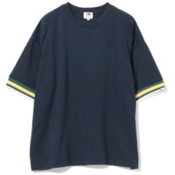 FRUIT OF THE LOOM × BEAMS BOY / リブライン Tシャツ レディース Tシャツ NAVY ONE SIZE