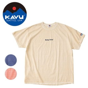 KAVU×FRUIT OF THE ROOM KAVU/カブー メンズ ショートスリーブ ビジーリビング Tシャツ 19821025 【Tシャツ/半袖/アウトドア】【メール便・代引不可】