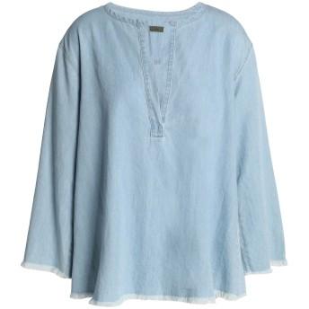 《セール開催中》ENZA COSTA レディース デニムシャツ ブルー 2 コットン 100%