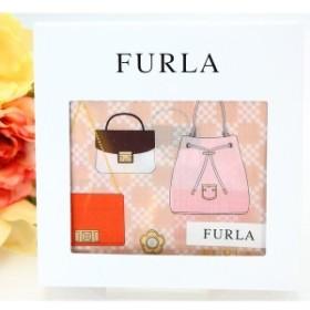 FURLA フルラ ハンカチ ギフト レディース ブランド 3バッグ柄 綿 大判 女性 誕生日プレゼント お礼 お返し お祝い
