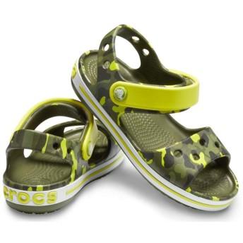 【クロックス公式】 クロックバンド シーズナル グラフィック サンダル キッズ Kids' Crocband Seasonal Graphic Sandal ユニセックス、キッズ、子供用、男の子、女の子、男女兼用 グリーン/緑 15cm,15.5cm sandal サンダル