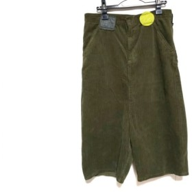 【中古】 フラボア FRAPBOIS パンツ サイズ1 S レディース ダークグリーン コーデュロイ