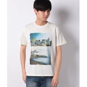 【50%OFF】 コムサイズム 半袖 フォトプリント Tシャツ ユニセックス ライトグレー M 【COMME CA ISM】 【セール開催中】