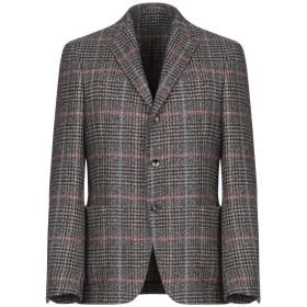 《セール開催中》LARDINI メンズ テーラードジャケット ブラック 50 ウール 100%