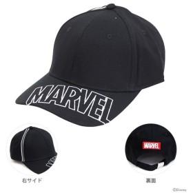 マーベル 帽子 シシュウロゴブラック柄 フリーサイズ 51007