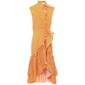 《セール開催中》WEILI ZHENG レディース 7分丈ワンピース・ドレス オレンジ S コットン 100%
