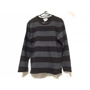 【中古】 アニエスベー agnes b 長袖Tシャツ サイズ1 S レディース グレー ダークグレー ボーダー
