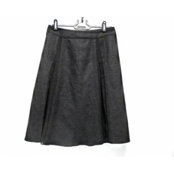 【中古】 ニジュウサンク 23区 スカート サイズ38 M レディース ダークグレー