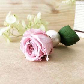 「Rose Amour」 片耳 ピアス【ピンクローズ】