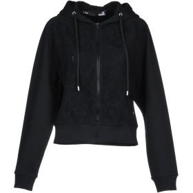 《期間限定セール開催中!》LOVE MOSCHINO レディース スウェットシャツ ブラック 38 コットン 95% / ポリウレタン 5% / ナイロン