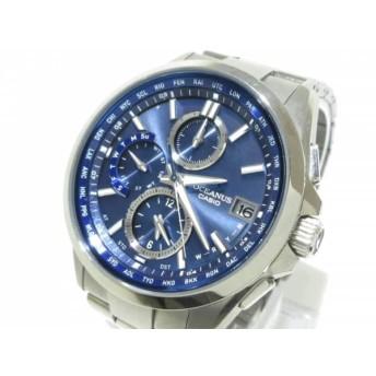 【中古】 カシオ CASIO 腕時計 オシアナス 0CW-T2600 メンズ ブルー
