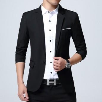 韓国2019新作メンズスーツ 男性用コート メンズファッション 紳士服リクルート フォーマルスーツ 結婚式 二次会 入学式 卒業式 通学 通勤 レジャー服