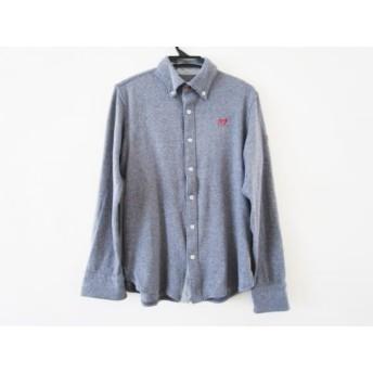 【中古】 マスターバニーエディション MASTER BUNNY EDITION 長袖シャツ サイズ5 XL メンズ ネイビー