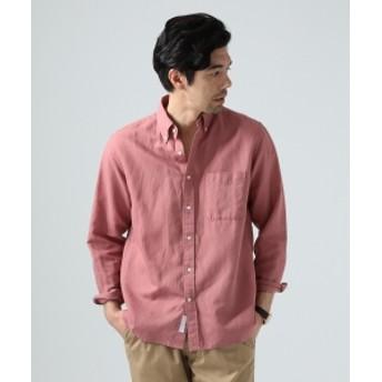 BEAMS LIGHTS / COOLMAX(R) リネンコットン ボタンダウンシャツ メンズ ドレスシャツ MILLENIAL PINK S