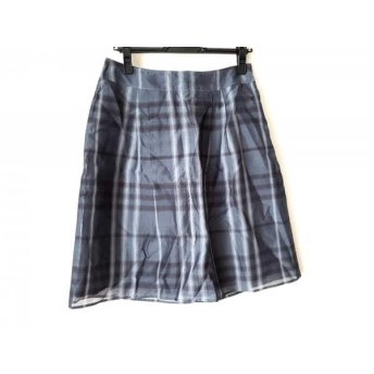 【中古】 バーバリーロンドン スカート サイズ40 L レディース 美品 ダークグレー 黒 ライトグレー