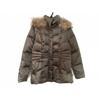 【中古】 アンタイトル UNTITLED ダウンジャケット サイズ2 M レディース ダークブラウン 冬物