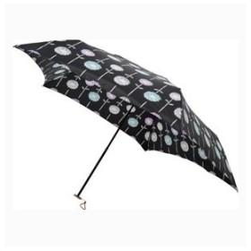 mabu 5本骨 軽量折りたたみ傘(デザイン)フローラ ノワール 直径89cm 紫外線カット 晴雨兼用傘 日傘 MBU-LMDPT06 返品種別A