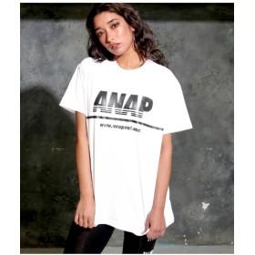 【50%OFF】 アナップ ANAPロゴプリントTシャツ レディース IV F 【ANAP】 【タイムセール開催中】