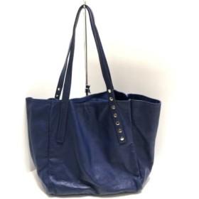 【中古】 スピック&スパン Spick & Span トートバッグ ブルー accessoires 合皮